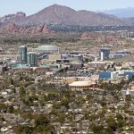 Aerial View of Downtown Tempe with