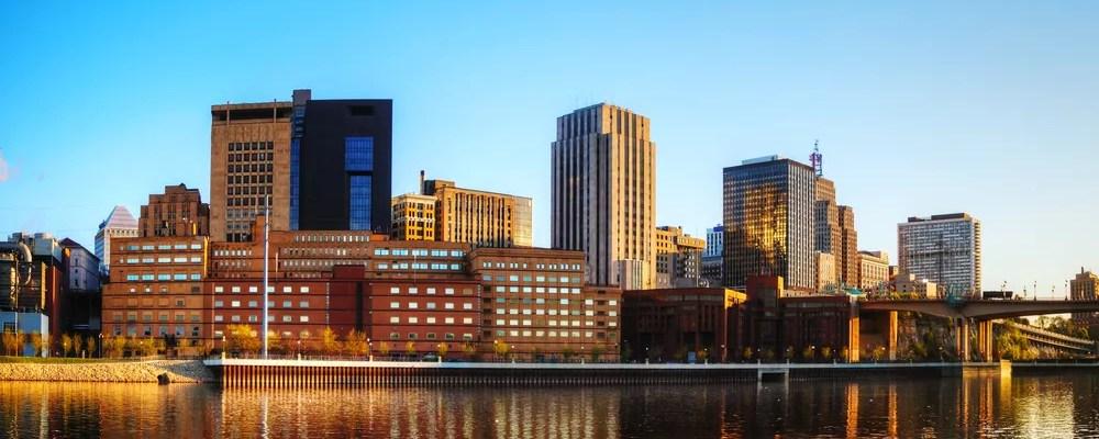 View of Downtown St. Paul, Minnesota Skyline