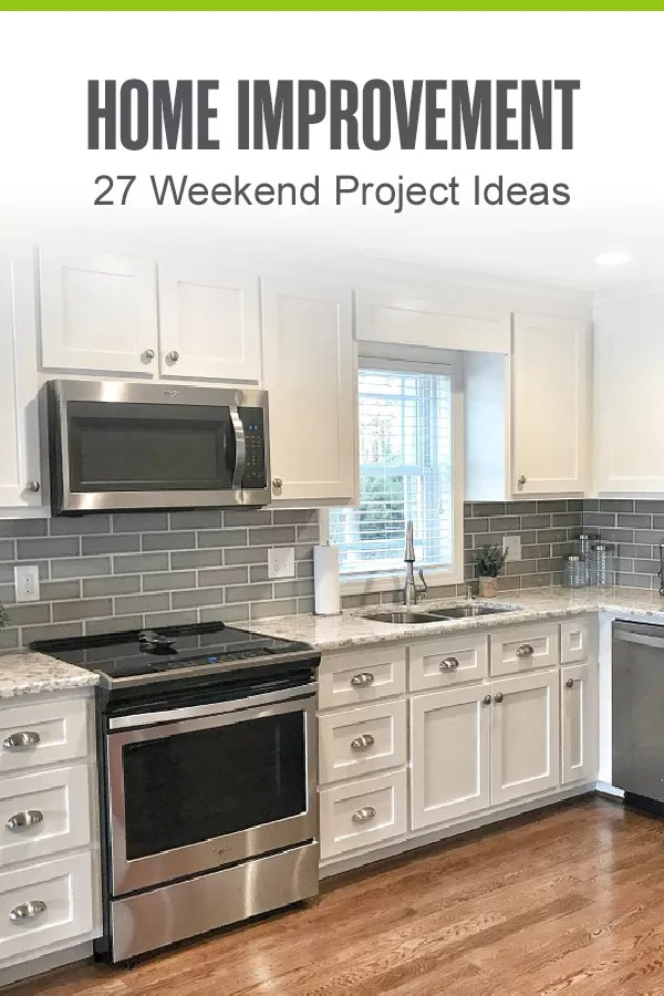 Looking for simple home upgrade ideas that you can tackle in a weekend? Check out these 27 home improvement projects for your kitchen, bathroom, and more! via @extraspace