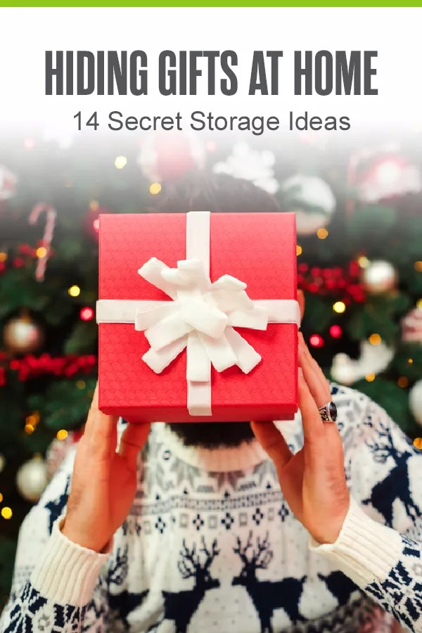 Wondering how to hide gifts at home this holiday season? Check out these 14 secret storage ideas for hiding gifts for Christmas, Hanukkah, birthdays, and more! via @extraspace