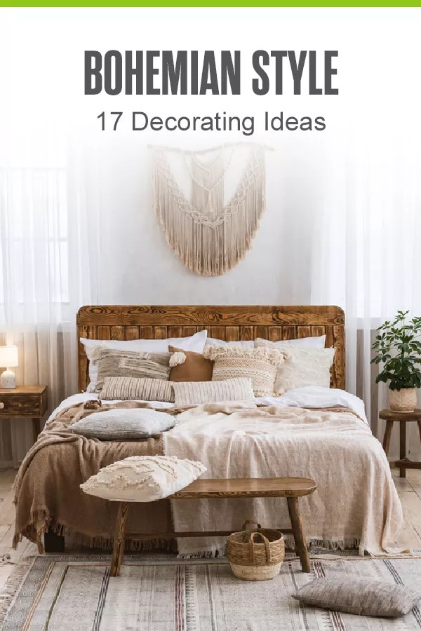 Want to decorate your home in Bohemian style? Check out these 17 home design and decorating tips to give your living space a chic boho makeover! via @extraspace