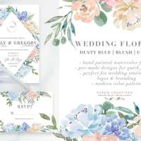 Watercolor Flowers PNG Clipart, Blue Watercolor Flowers Background, Boy Baby Shower Invitations