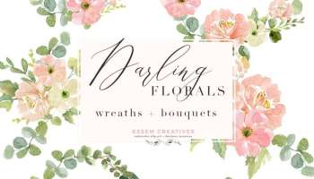 Watercolor Wreath PNG Clipart Flowers Bouquet Background Floral
