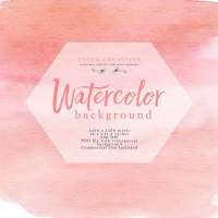 Blush Pink Watercolor Texture Splash Clipart Background with Transparent Background Edges