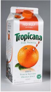 The original branding for the Tropicana carton