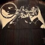 【手描き壁画☆トタン】@滋賀県彦根市『TAKAZONO』様