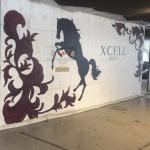 【光る壁画15面★エントランス1面目完成】@広島県福山市ホテル