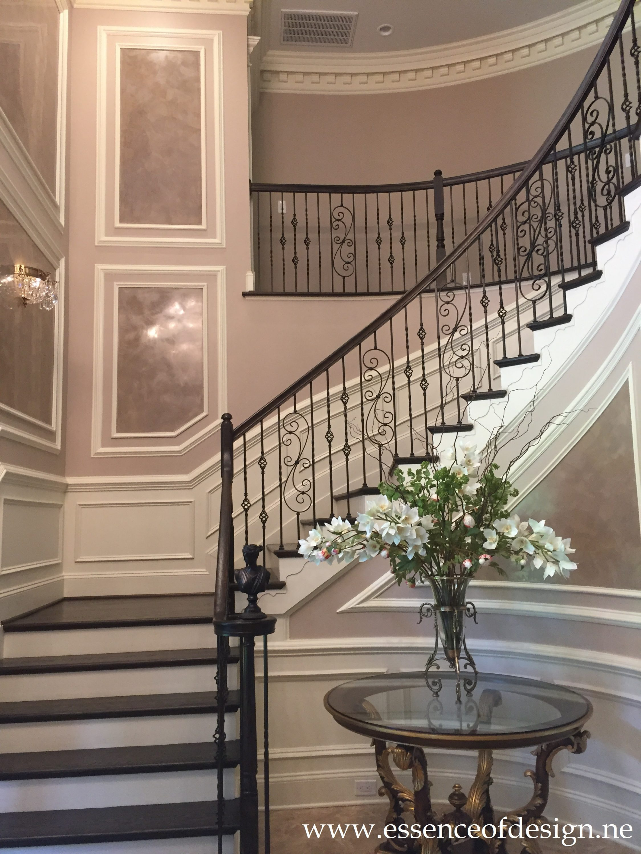 Potomac MD Interior Designer Shiva Rostami Foyer Faux