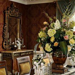 Potomac-MD-interior-designer-Shiva-Rostami-dining-room-elegant-traditional-custom-runner-McLean-Virginia