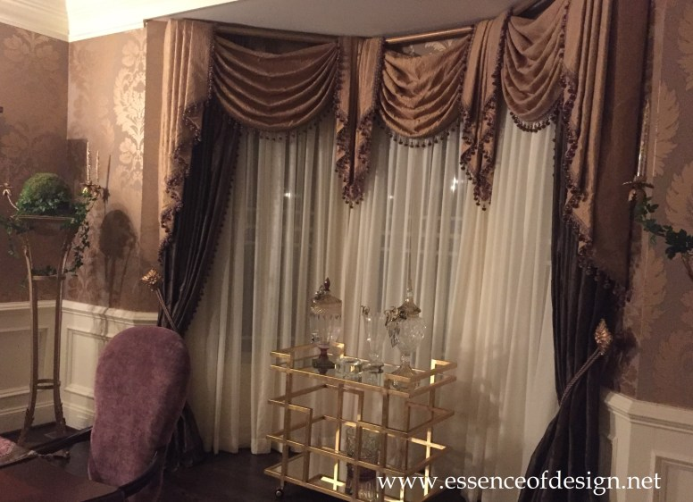 Potomac-MD-interior-designer-Shiva-Rostami-dining-room-elegant-transitional-custom-drapes-Virginia