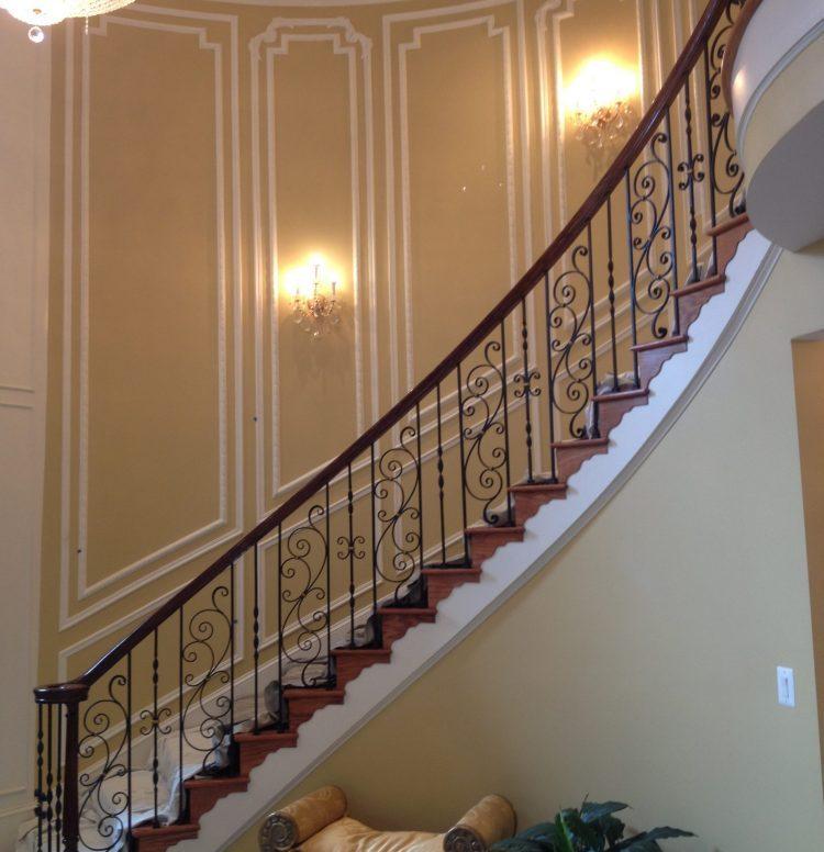 Potomac-MD-interior-designer-Shiva-Rostami-foyer-McLean-VA-luxury-custom-millwork
