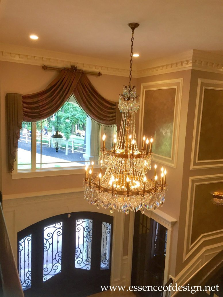 Potomac-MD-interior-designer-Shiva-Rostami-foyer-McLean-VA-luxury-custom-millwork-faux-finish-