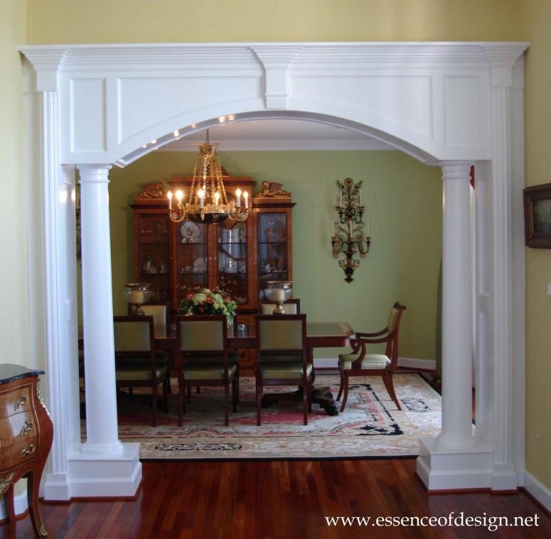 Potomac-MD-interior-designer-dining-room-elegant-traditional-architectural-detailing-opening