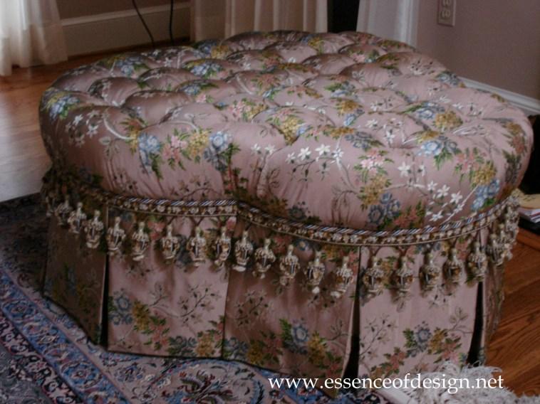 Potomac-MD-interior-designer-shiva-Rostami-mclean-Va-elegant-traditional-clover-ottoman