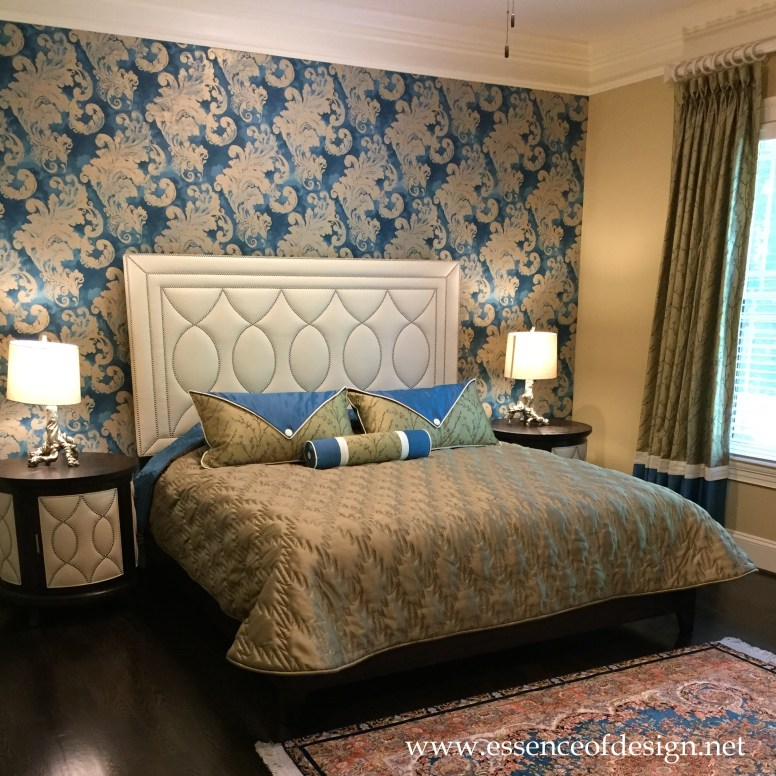 Potomac-Maryland-Interior-Designer-Shiva-Rostami-Guest-bedroom-Great-Falls-Va-custom-bedding