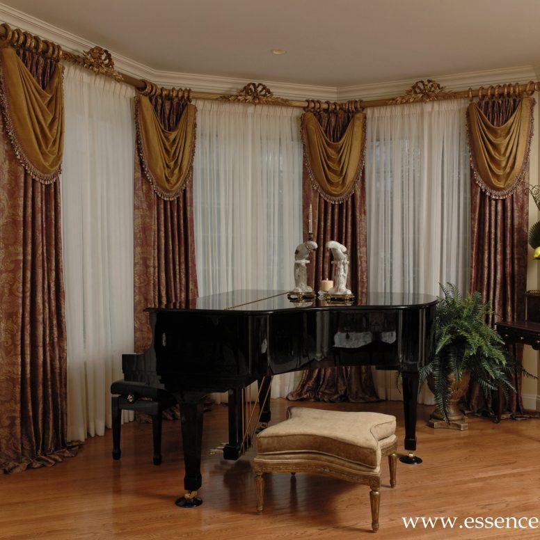 Potomac-Maryland-interior-designer-Shiva-Rostami-Piano-living-room-custom-draperies-McLean-VA