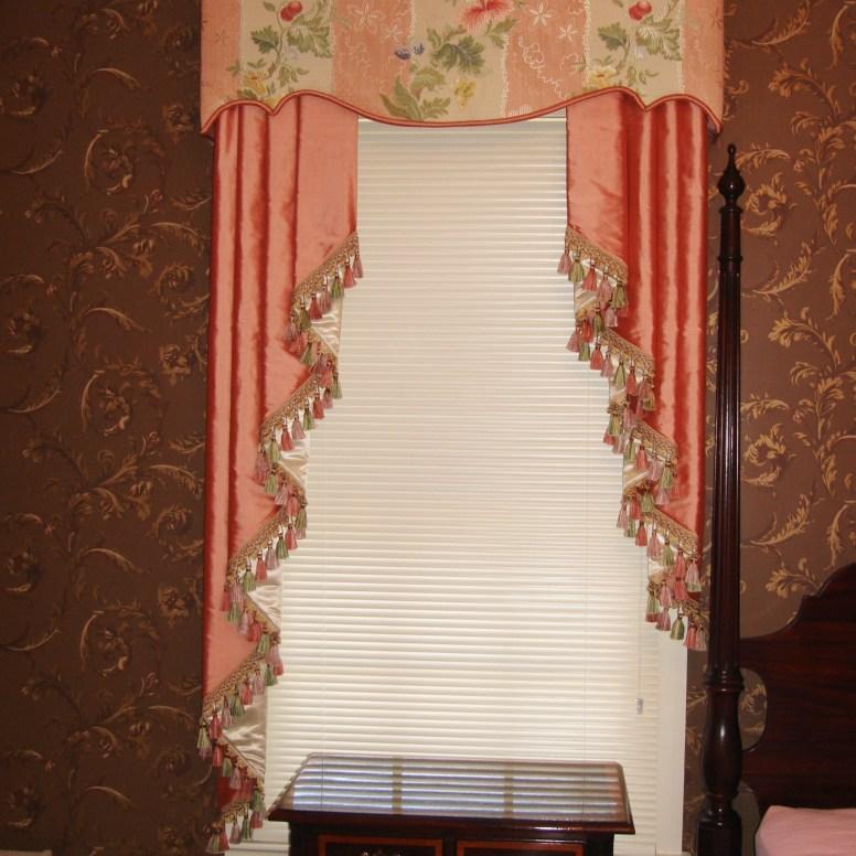 essenceofdesign.net-Potomac-Maryland-Interior-Designer-Shiva-Rostami-guest-bedroom-cornice-with-jabots-fairfax-va