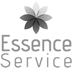 Essence Service logo greyscale footer