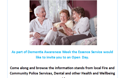 Essence Service open day to mark Dementia Awareness / Action Week – 23rd May 2018