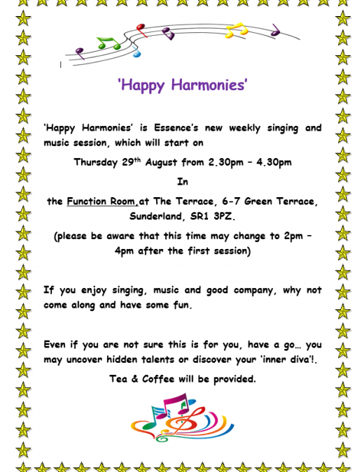 Come along to our new singing session – 'Happy Harmonies'!