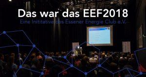 Danke an alle Sponsoren, Partner und Teilnehmer des EEF 2018!