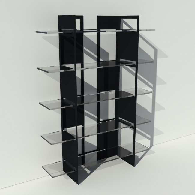etagere plexiglas et metal sur mesure pixel