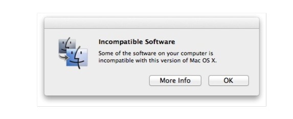 Max OS X Lion Install Incompatble Software OSX Lion Incompatible Software