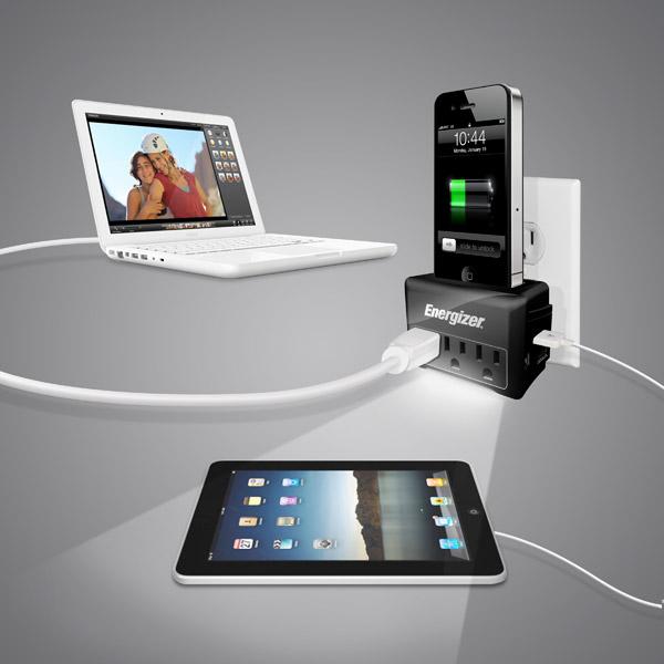 energizer isurge travel1 Energizer iSurge Charging Station for iPod, iPhone
