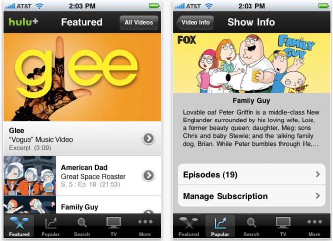 huluplus Hulu Plus app adds HDMI output for iPad 2