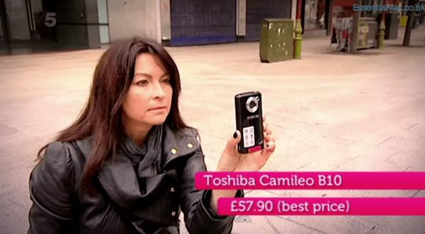 Gadget Show Suzi Perry iPhone 4s v Toshiba Camileo B10 Gadget Show iPhone 4s vs Convergance Tech Special