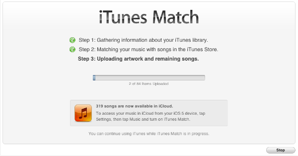iTunes Match Step 3 iTunes Match Now Available in the UK