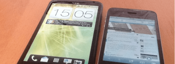 HTC ONE X V Iphone HTC One X v iPhone Browser Test