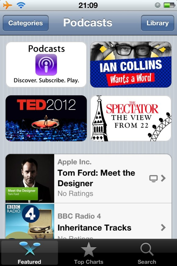 20120626 211024 Reviewed : Podcasts App From Apple   Comes Early