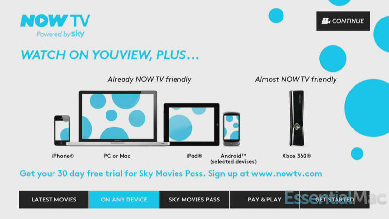 Sky Now TV Arrives on YouView