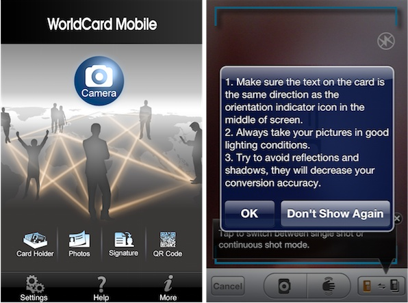 WorldCard Mobile App WorldCard Mobile iPhone Business Card Scanner Review