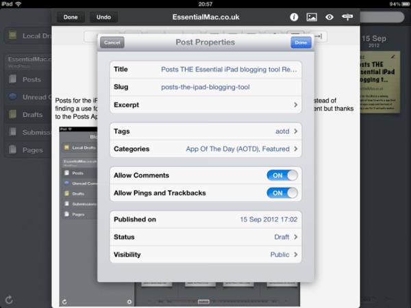 1249ACBB 2CD1 4884 A578 E589D58D32D9 Posts THE Essential iPad blogging tool Reviewed