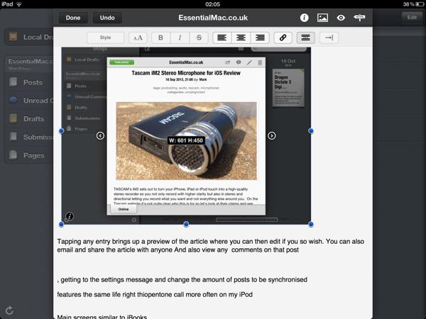 A9F8BDA6 9423 4615 AB06 0E63FBC97349 Posts THE Essential iPad blogging tool Reviewed
