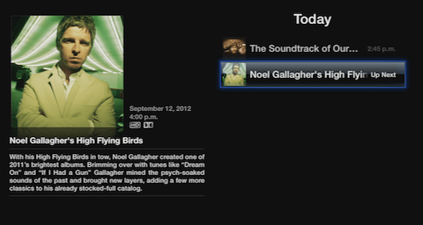 iTunes Festival Noel Gallagher iTunes Festival 2012 : Noel Gallaghers High Flying Birds Now Streaming on Apple TV