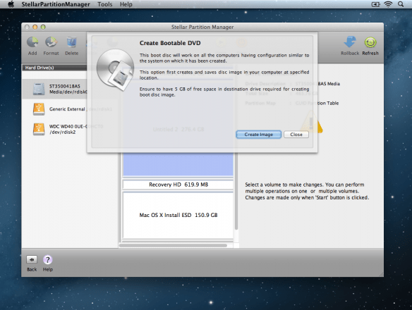 StellarPartitionManager Create Bootable DVD part 2 584x440 Review : Stellar Partition Manager For Mac