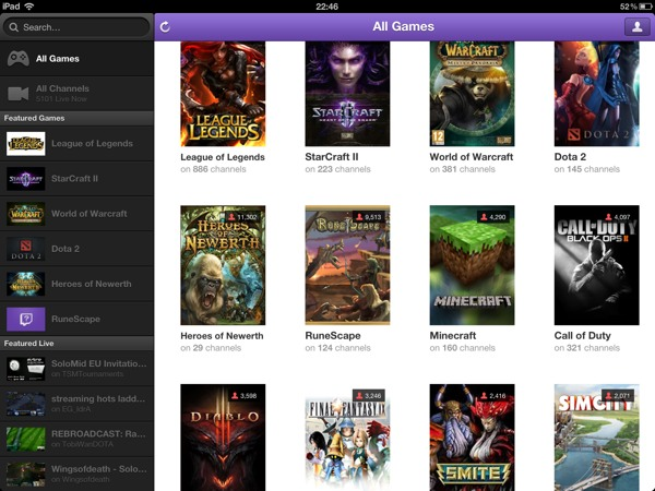 1363647168 Review : Twitch.TV 2.3 iOS App : Blank Streams and Plenty of Crashes.
