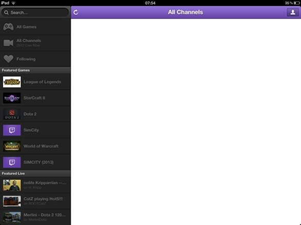 20130312 075908 Review : Twitch.TV 2.3 iOS App : Blank Streams and Plenty of Crashes.