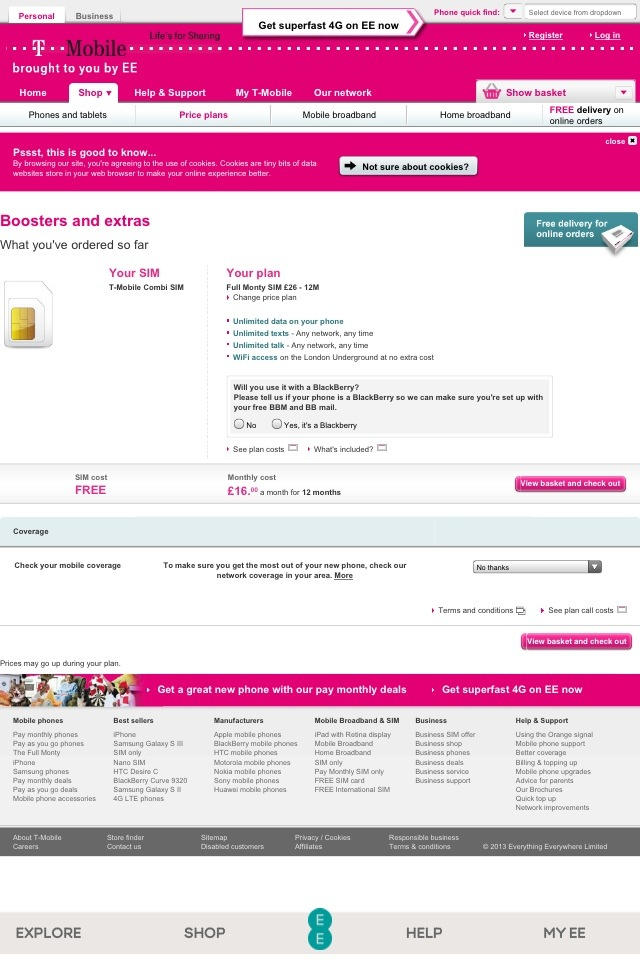 20130625 132140 T mobiles Unlimited Data, Texts & Calls Full Monty Package Sale £16.