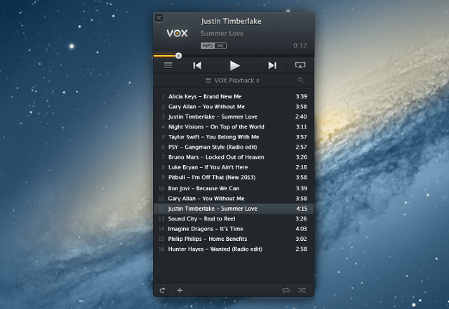 vox audio playlist VOX 1.0 Audio Player For Mac. Its like VLC for audio