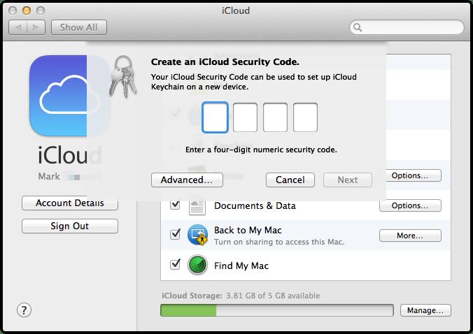 wpid 706252166 OS X Mavericks iCloud KeyChain Setup and Useage.