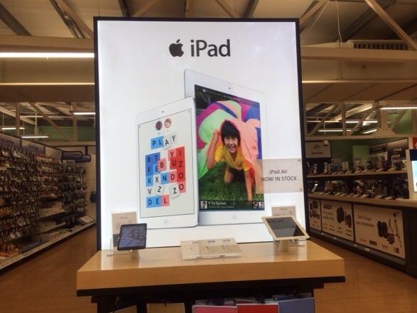 20131102 222647 iPad Air available at Tesco.