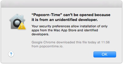 PopCorn Time Cant Be opened  Popcorn Time.  Stream movies from Torrents