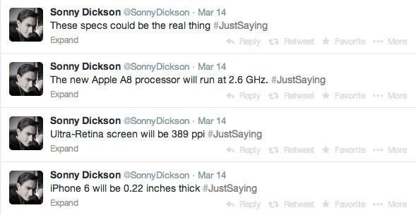 iPhone 6 Specs More ridiculous Rumors.  iPhone 6 Specs via twitter