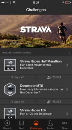 Strava Run App Challenges 247x440 Burn Off The Xmas Calories With The Best Running Apps for your iPhone