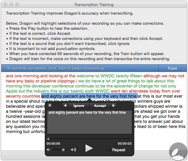 Dragon Transcription Training 2 Dragon Dictate 5 For Mac First Look At Transcription