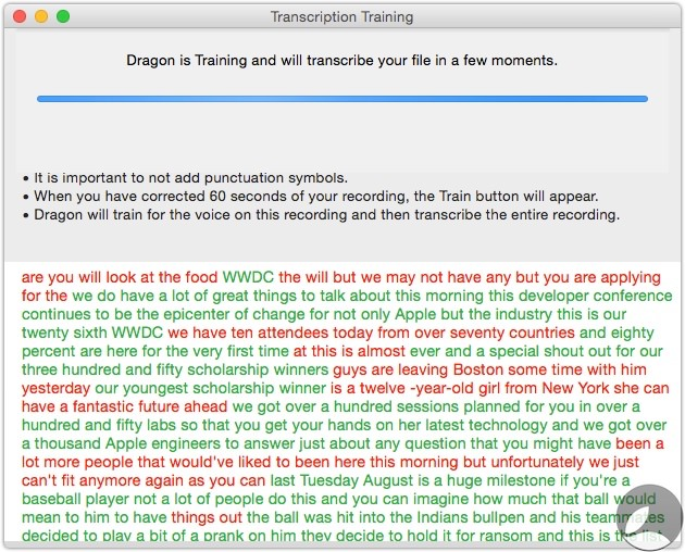 Dragon Transcription Training 3 Dragon Dictate 5 For Mac First Look At Transcription